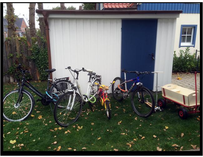 Gäste dürfen die vorhandenen Fahrräder gegen eine einmalige Reparaturkostenpauschale mitbenutzen